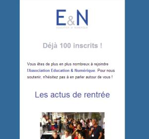 La première newsletter E&N