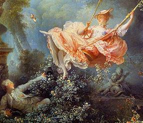 Les hasards heureux de l'escarpolette, Fragonard.