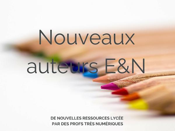 Nouveaux auteurs de lycée – E&N