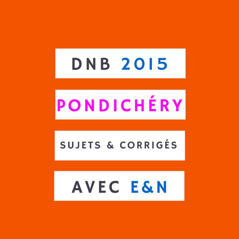 Brevet 2015 – Pondichéry