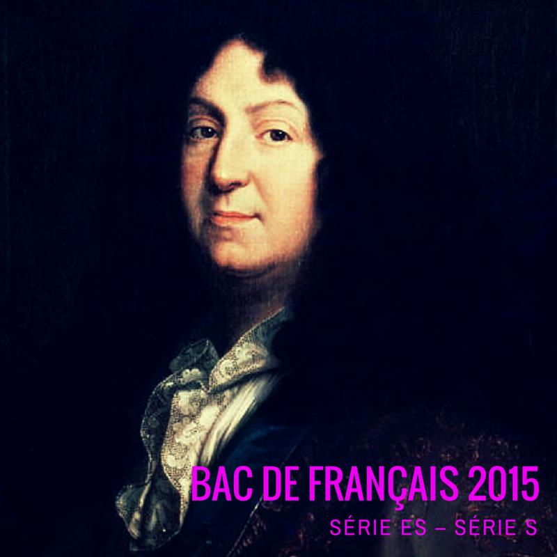Bac 2015 Français – Métropole – Série ES, S