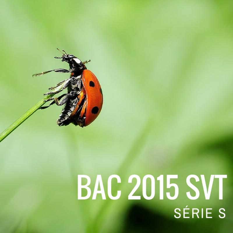 Bac SVT 2015 Métropole