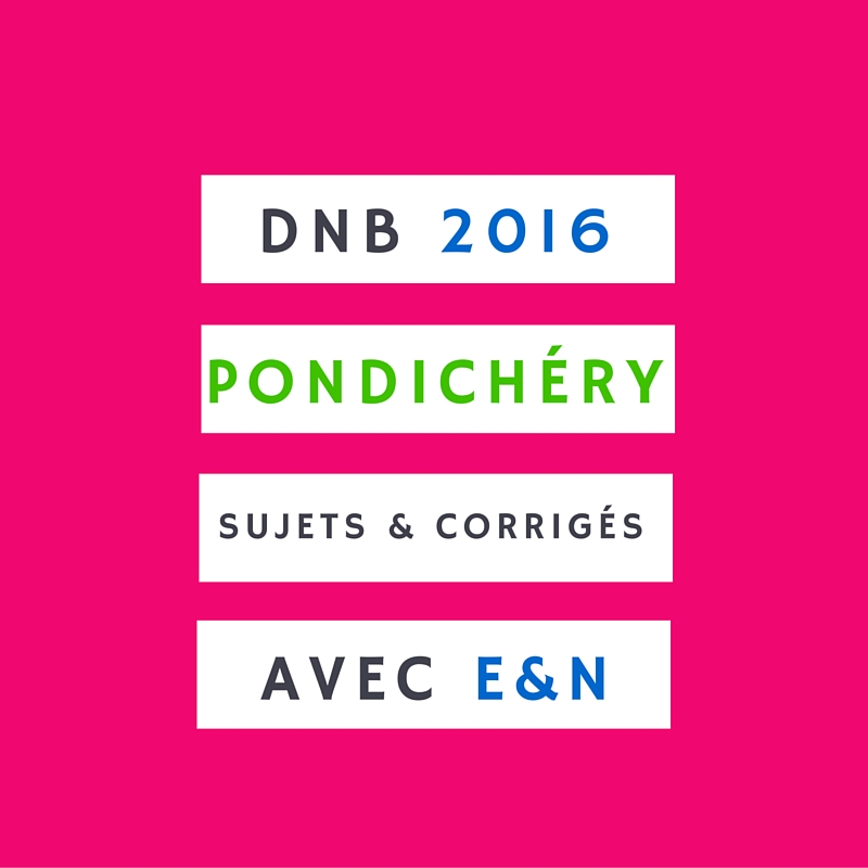 Brevet Pondichéry 2016