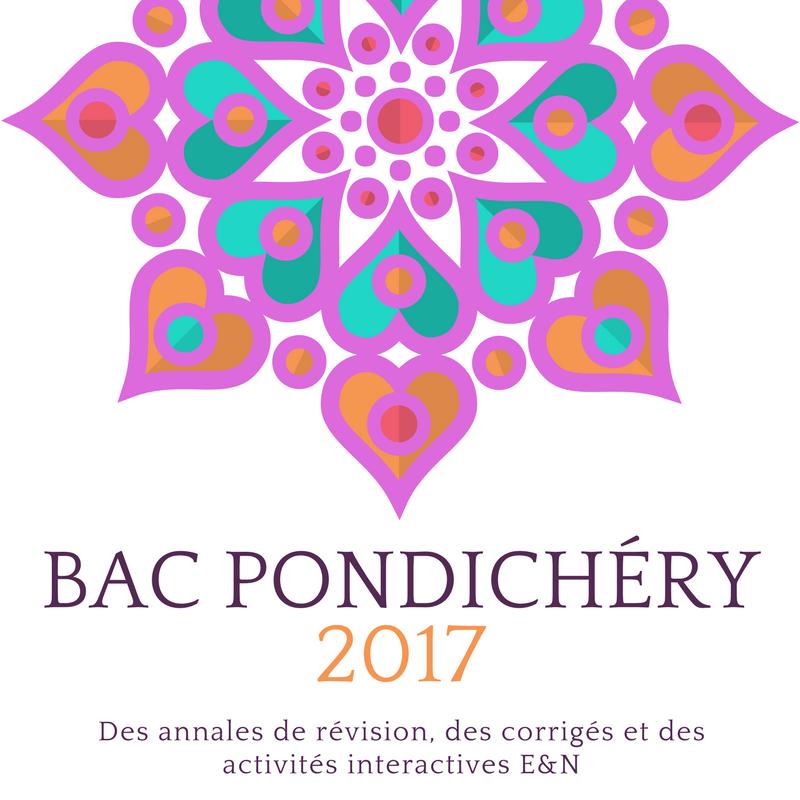 Bac Pondichéry 2017