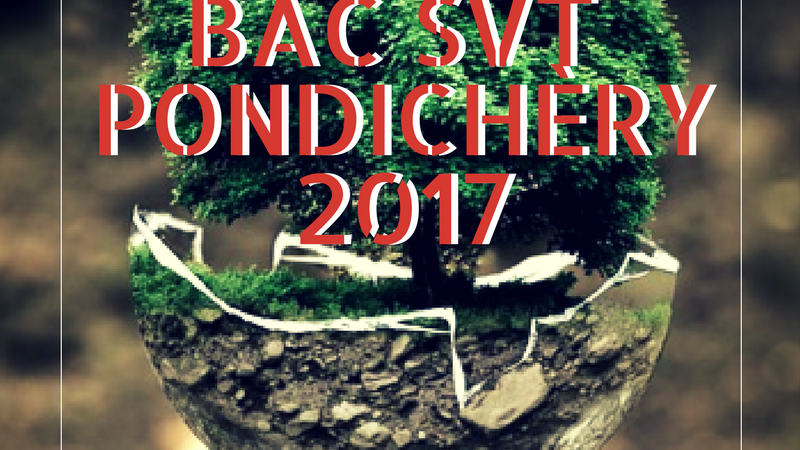 Bac SVT Pondichéry 2017 – Sujets et corrigés